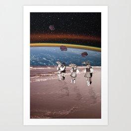 Space Dance Art Print