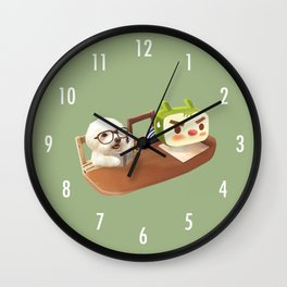 Hit the book! Wall Clock
