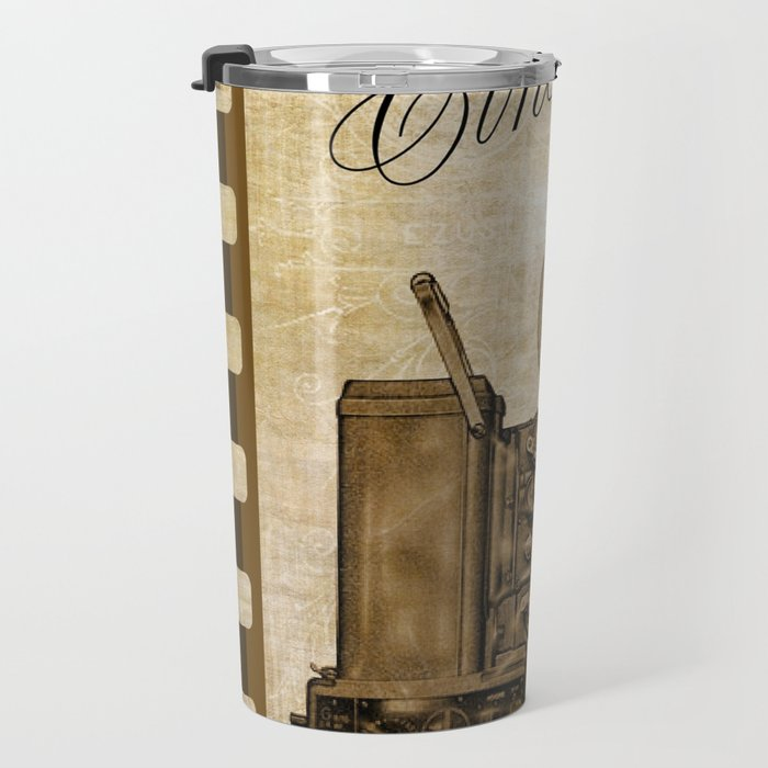 Old Cinema Reels Travel Mug