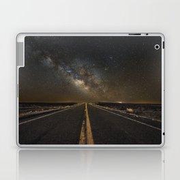 Go Beyond - Road Leads Into Milky Way Galaxy Laptop & iPad Skin