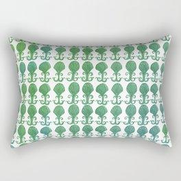 Art Deco Avalon Shell Pattern Green Blue Rectangular Pillow
