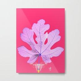 Fig Leaf Diamond Heart Christmas Metal Print