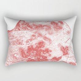 San Francisco Topography  Rectangular Pillow
