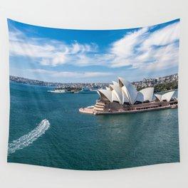 Sydney Harbor and Sydney Opera House Wall Tapestry