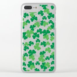St. Patricks day clover pattern Clear iPhone Case