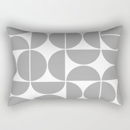 Mid Century Modern Geometric 04 Grey Rectangular Pillow