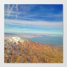 Flying over Utah Canvas Print