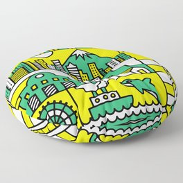 Seattle, Washington Floor Pillow