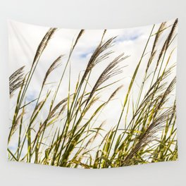 Sky through the tall grass Wall Tapestry