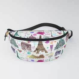 Voyage à Paris (Watercolor) Fanny Pack