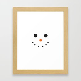 Snowman Holiday Framed Art Print