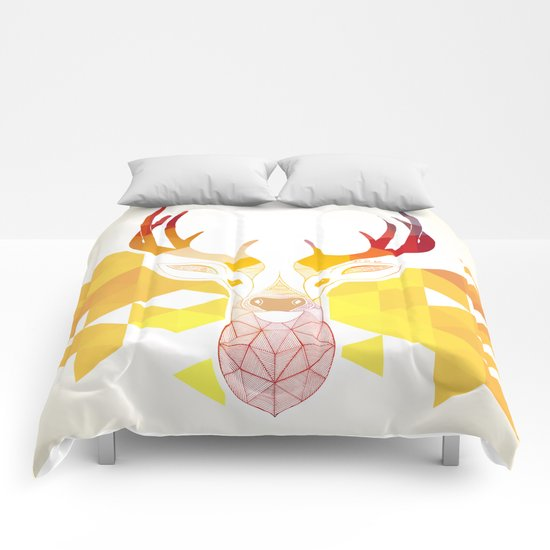 Colored Deer  Comforters
