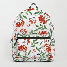 Modern hand painted orange green watercolor floral Backpack