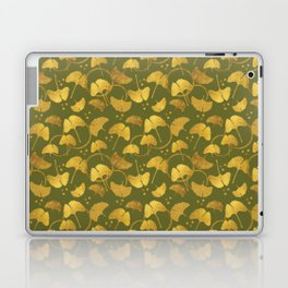 Ginkgo Gold_Olive Laptop & iPad Skin