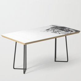 Black and White Happy Cat Coffee Table