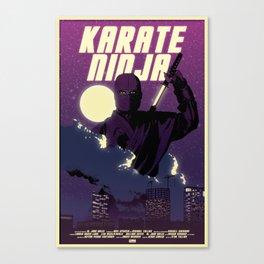 Karate Ninja Canvas Print
