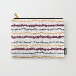 Brown Leafy Line Pattern Carry-All Pouch