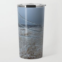Kansas Icy Fence Travel Mug