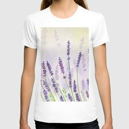 Lavender Flowers Watercolor T-shirt