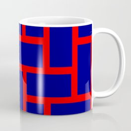 blue and red tile pattern Coffee Mug