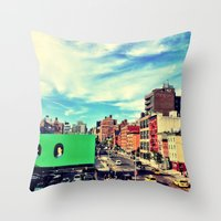 chelsea Throw Pillows featuring Chelsea, NYC by Bolu By Rima