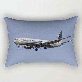Boeing 737 Private Jet Rectangular Pillow