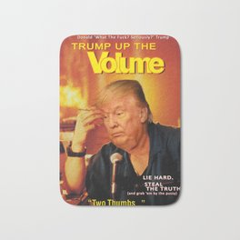 Trump Up The Volume Donald Trump Movie Poster Satire Bath Mat