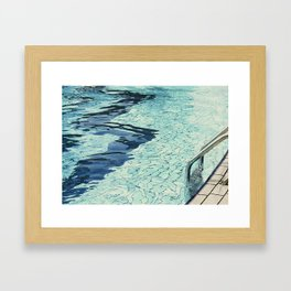 Summertime swimming Framed Art Print