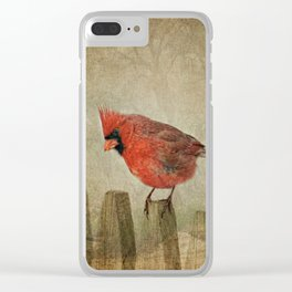 RED bird Clear iPhone Case