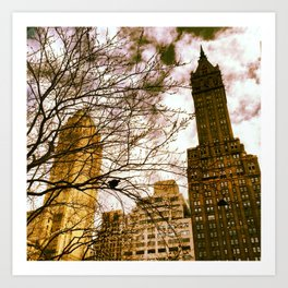seeing through the trees, clouds ahead. Art Print