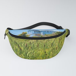 Beach House With Cattails Fanny Pack