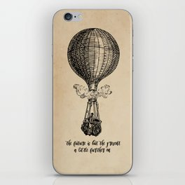 Jules Verne - The future is but the present iPhone Skin