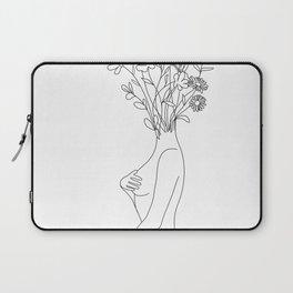 Minimal Line Bloom Laptop Sleeve