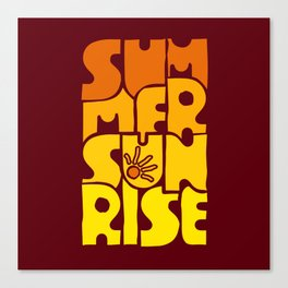 Summer Sunrise 2 Canvas Print