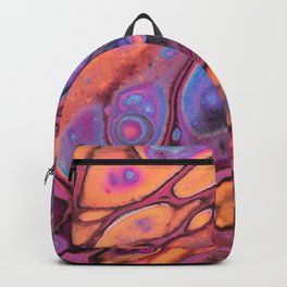Macro Acrylic Pour 3895 Backpack