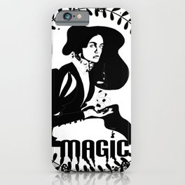 Magic Girl Black and White iPhone Case