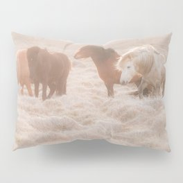WILD AND FREE 3 - HORSES OF ICELAND Pillow Sham