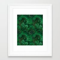 malachite Framed Art Prints featuring malachite by ravynka