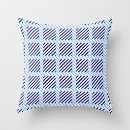 optical pattern 70 blue Throw Pillow