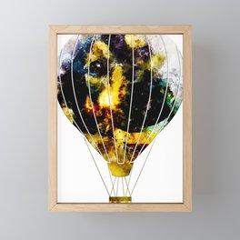 dog 2 hot air balloon Framed Mini Art Print