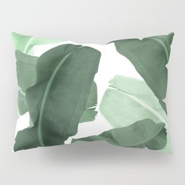 Green Banana Leaf Pillow Sham