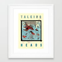 talking heads Framed Art Prints featuring Talking Heads Limited Edition Music Poster Print by Nick Howland