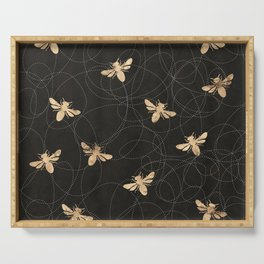 Busy Bees (Black) Serving Tray