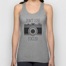 Don't Lose Focus! Unisex Tank Top