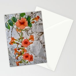Trumpet Flowers, Greece Stationery Cards