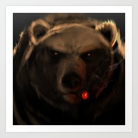 starcraft Art Prints featuring Smoking Bear by Rookzer0