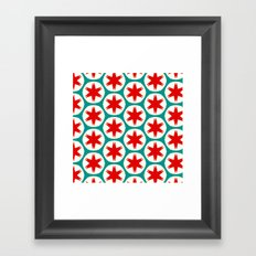 Retro Red Stars II Framed Art Print