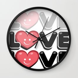 love in this valentine day Wall Clock