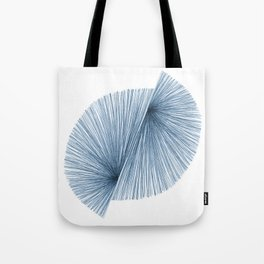 Mid Century Modern Indigo Blue Geometric Abstract Tote Bag