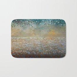 Landscape Dots - Turquoise Bath Mat